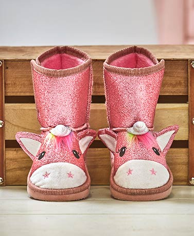 Toddler and Little Girl Unicorn Boots