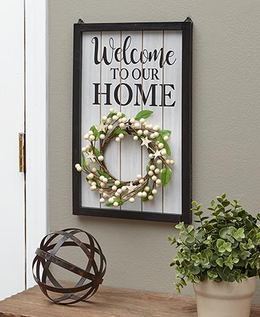 4-Pc. Interchangeable Welcome Home Sign