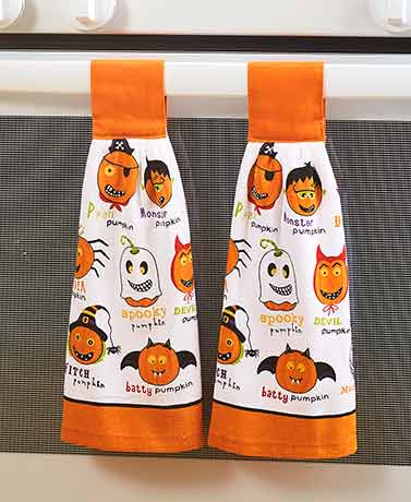 Sets of 2 Seasonal Hanging Kitchen Towels