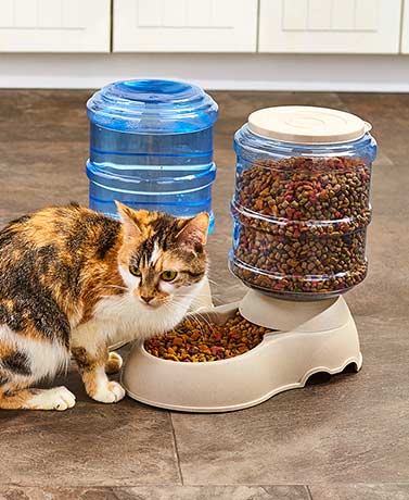 Self-Dispensing Gravity Pet Feeder or Waterer