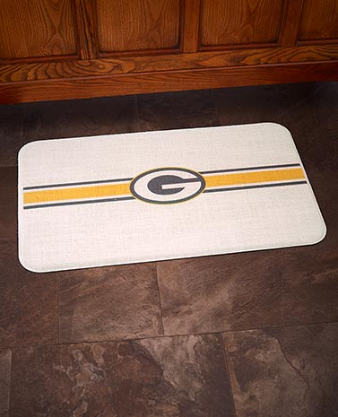 NFL Anti-Fatigue Burlap Kitchen Floor Mats