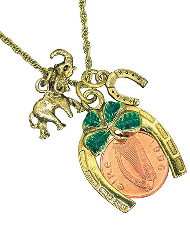 Irish Penny Lotto Scratcher Necklace or Key Chain