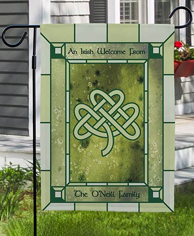 Personalized Irish Welcome Garden Flag