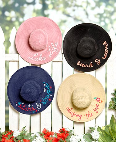 Packable Sentiment Floppy Sunhats