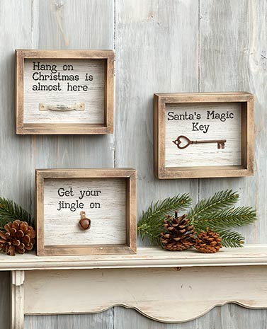 Rustic Holiday Shadowboxes