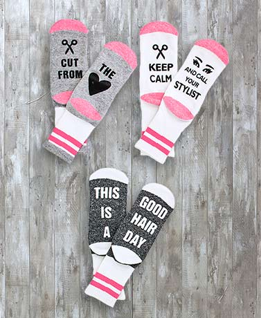 3-Pair Novelty Occupational Slipper Socks