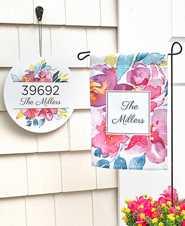 Personalized Watercolor Floral Collection