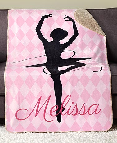 Personalized Sports Dance! Sherpa Throw