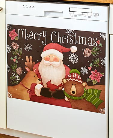 Country Christmas Kitchen Collection - Dishwasher Magnet