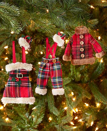 Set of 3 Outfit Ornaments