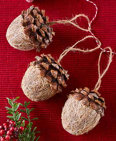 Set of 3 Acorn Ornaments