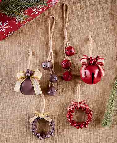 Sets of 3 Bell Ornaments
