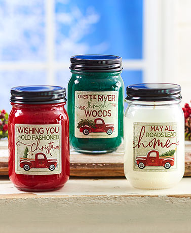 Holiday Mason Jar Candles