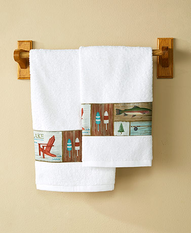 Gone Fishing Bathroom Collection - Hand Towels