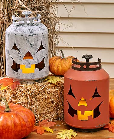 Gas Can Jack-o'-Lanterns