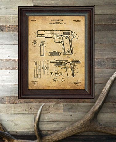 Framed U.S. Patent Wall Art