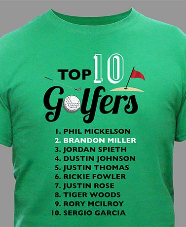 Personalized Top Golfer T-Shirt