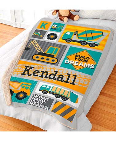 Personalized Kids' Sherpa Throws - Truck