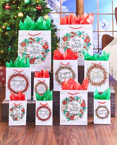 30-Pc. Holiday Gift Bag Sets