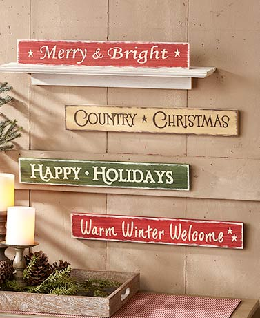 Holiday Sentiment Signs