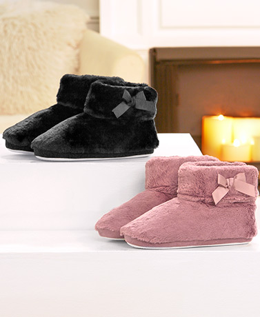 Memory Foam Furry Fleece-Lined Slippers