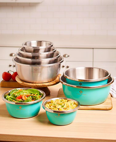 4-Pc. Stainless Steel Flat Bottom Bowl Sets