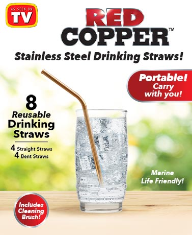 Red Copper® Stream Straws
