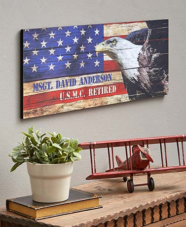 Personalized USA Patriot Wall Art