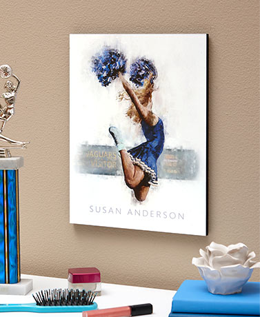 Personalized Cheerleader Wall Plaque