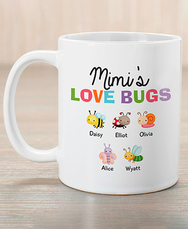 Love Bugs Personalized Coffee Mug