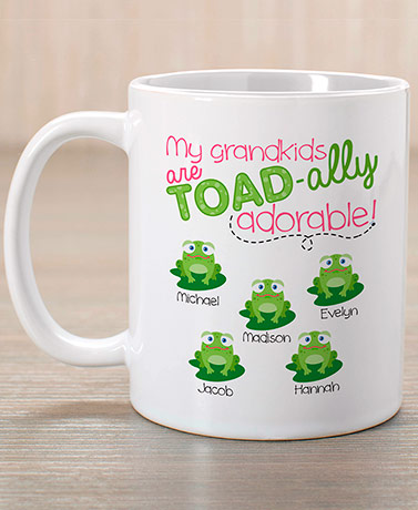 Personalized Adorable Grandkids Coffee Mug