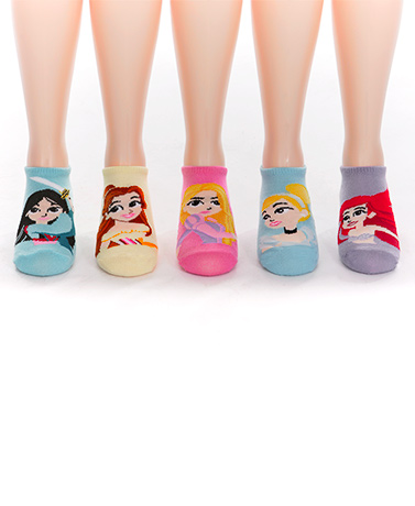 5-Pk. Girls' No-Show Licensed Socks