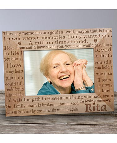 Personalized Memorial Wood Photo Frames