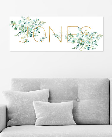 Personalized Watercolor Foliage Wall Art
