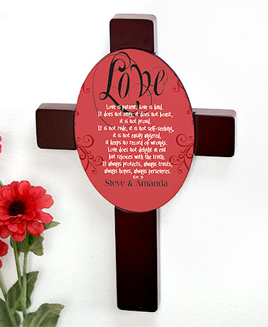 Inspirational Love is Patient Personalized Cross