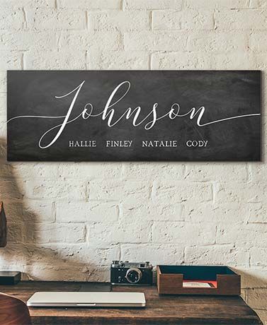 Personalized Farmhouse Script Wall Art