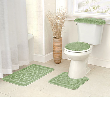 4-Pc. Diamond Bath Rug Sets