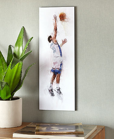 Personalized Basketball Player Wall Art