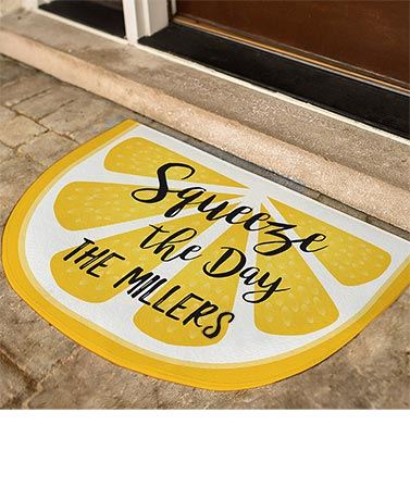 Fresh and Fruity Personalized Doormats