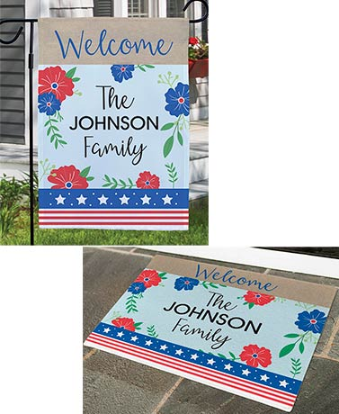 Personalized Patriotic Floral Collection