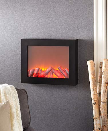 LED Flame-Effect Fireplace