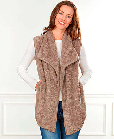 Open Front Sherpa Vests