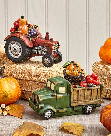 Harvest Truck or Tractor Figurines