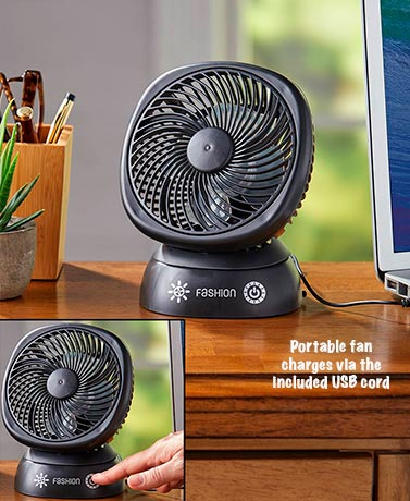 Rechargeable Touch Control Panel Fans