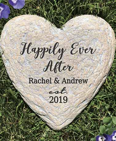 Personalized Happily Ever After Garden Stone
