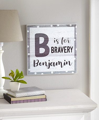 Personalized Kids' Alphabet Wall Plaques