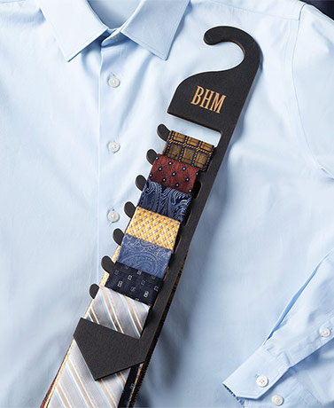 Personalized Men's Wood Tie Rack