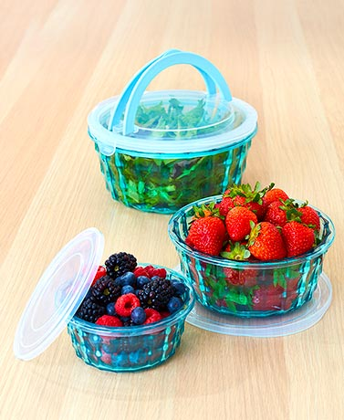 6-Pc. Diamond Design Food Storage Containers