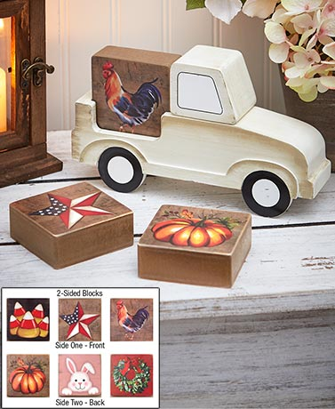 5-Pc. Seasonal Truck Block Set