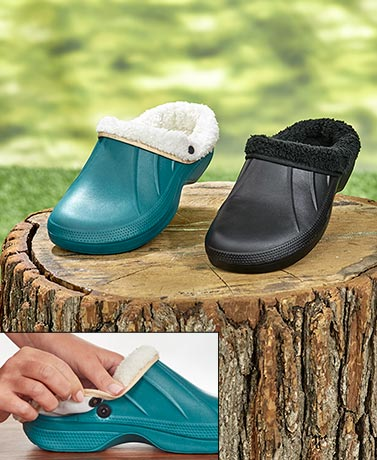 Waterproof Clogs with Removable Fleece Lining